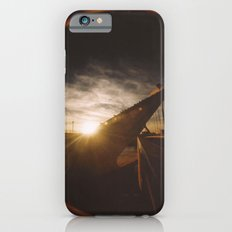 Golden sunset, bridge and birds iPhone 6s Slim Case