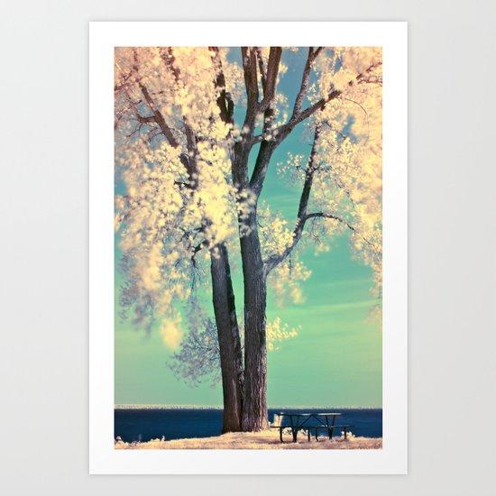 Infra-Red Tree Art Print