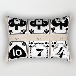 patent Playing cards 1877 Saladee Rectangular Pillow