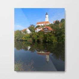 St. Martinus Church in swabia Metal Print