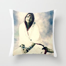 Sri Ma Anandamayi - Hindu Saint - for Blessings and Protection Throw Pillow