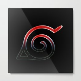 Konoha Symbol Metal Print