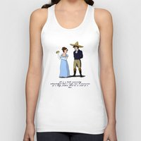 pride and prejudice Tank Tops featuring Pride and Prejudice and Tacos by mikaelak
