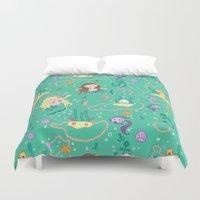 mermaids Duvet Covers featuring Mermaids by lindsey salles