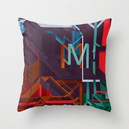 M! Throw Pillow