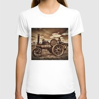 jem T-shirts featuring Jem General Purpose Engine in sepia by Avril Harris