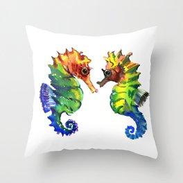 Love of Seahorses Throw Pillow