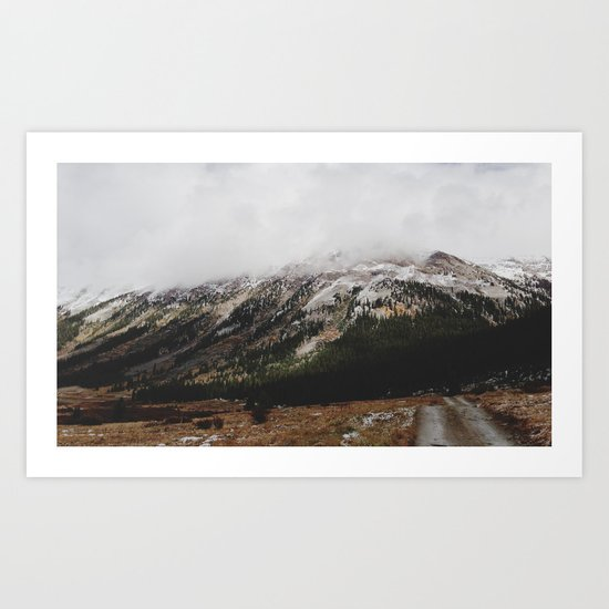 Snowcapped Mountains Art Print