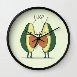 Impossible hug Wall Clock