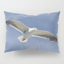 Wildlife Seagull flying Pillow Sham