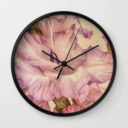 Shabby chic gladioli Wall Clock