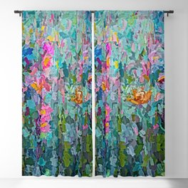 Mid July Meadow Flowers - #2 Painting by Olena Art Blackout Curtain