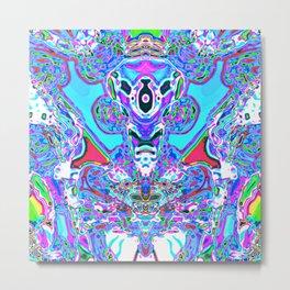 Alien grow in my head Metal Print