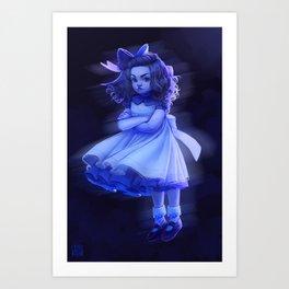 Ghost Girl (#Drawlloween2016 Series) Art Print