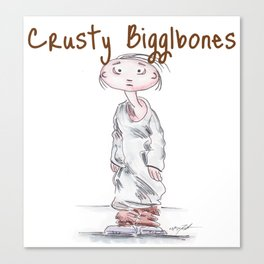 Crusty Bigglebones Canvas Print