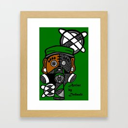 Street Human-Bear  Framed Art Print