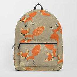 Retro Fox Pattern Backpack