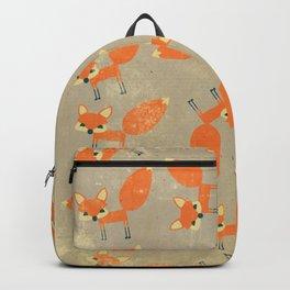 Retro Fox Pattern Backpack