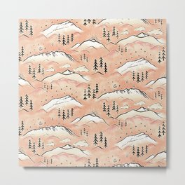 Monte Vista - peach Metal Print