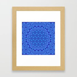 Vibrating Flower of Life Framed Art Print