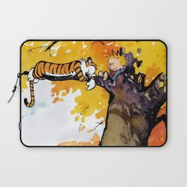 Calvin and Hobbes on the Tree huge Laptop Sleeve