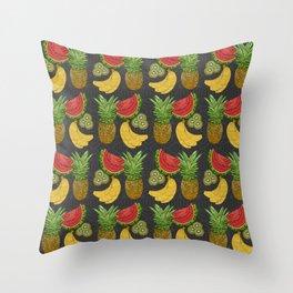 Tropical Fruit Salat Throw Pillow