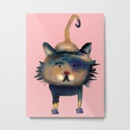Fluffy blue cat Metal Print