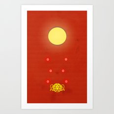 Crimson Typhoon Art Print