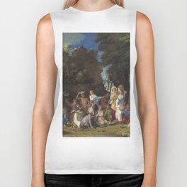 Giovanni Bellini and Titian The Feast of the Gods 1514 1529 Painting Biker Tank