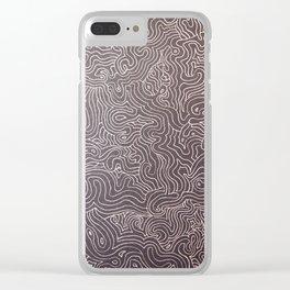 Melting eye Clear iPhone Case