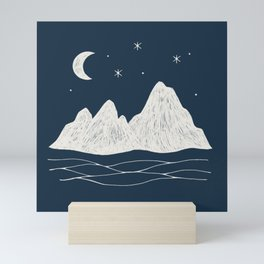 sonoran night Mini Art Print