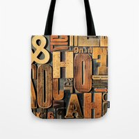 letters Tote Bags featuring Letters by Bekare Creative
