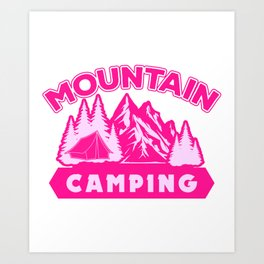 Mountain Camping mag Art Print