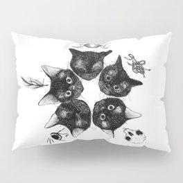 Kitten Star Conjuring Spell to Open a Kitten Portal Pillow Sham