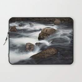 Flowing Water over Rocks in a Mountain Stream in the Smoky Mountains Laptop Sleeve