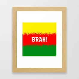 Jamaican Design 2 - brah Framed Art Print