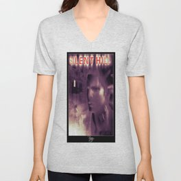 Silent Hill 1 - Ps1 Art Box Cover (NA Version) - Brazz Unisex V-Neck