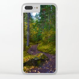 Walking along the Berg Lake Trail in Fall Clear iPhone Case