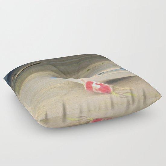 White Storm Floor Pillow