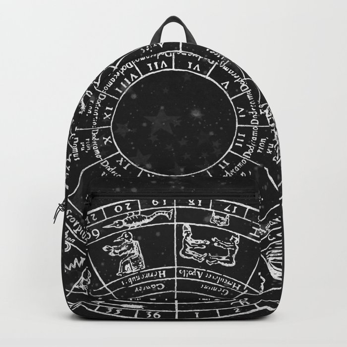 Black and White Vintage Star Map Backpack