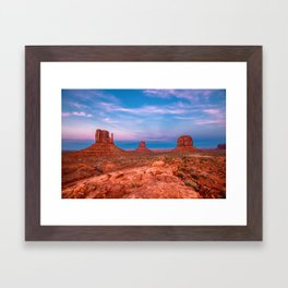 Westward Dreams - Sunset in Monument Valley Framed Art Print