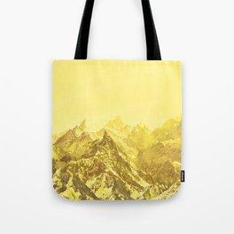 Mountains Yellow Tote Bag