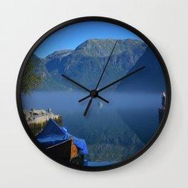 Fog Lake Norway Wall Clock