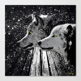 WOLF OF THE NIGHT FOREST Canvas Print