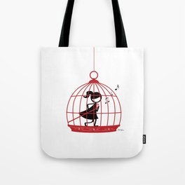 The Caged Bird Sings Tote Bag