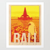 bali Art Prints featuring Bali by Alise Carter