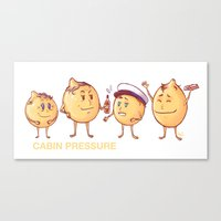 cabin pressure Canvas Prints featuring Cabin Pressure - Lemons by MaliceZ