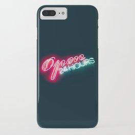 NEON OPEN 24 HOURS iPhone Case