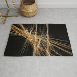 Firecracker   Geometric Line Abstract Rug
