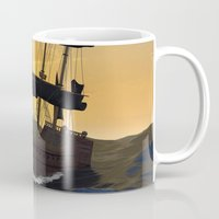 pirate ship Mugs featuring Pirate ship  by nicky2342